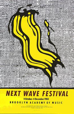 Roy LICHTENSTEIN Next Wave Festival Pop Art Poster