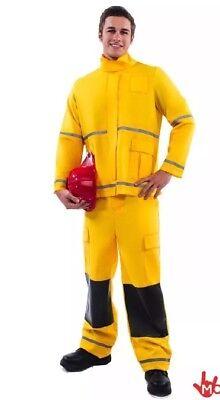 Mr.Firefighter Fireman Emergency Services Uniform Mens Halloween Costume Sz XL - Mens Fireman Costume