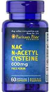 NAC N-ACETYL CYSTEINE 600mg x 60capsules PURITANS PRIDE 24hr DISPATCH