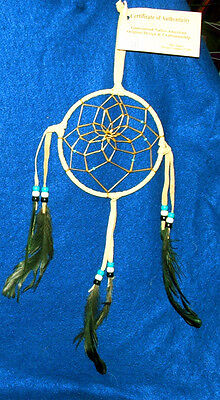 "Native American Indian Dreamcatcher Navajo  5"" dia hoop Tan Free shipping #111"