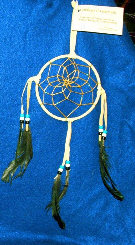 "Native American Indian Dreamcatcher Navajo  5"" dia hoop Tan Free shipping #111"