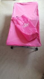 Regalo My Cot Pink Portable Travel Bed with Travel Bag