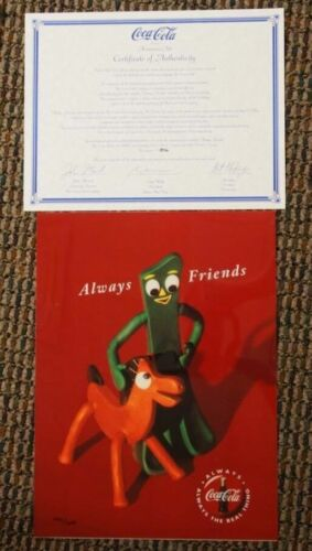 Always Friends Gumby Pokey Coca-Cola Cel Advertising Ad Art Coke Advertising