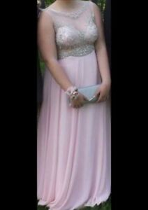BEAUTIFUL PINK PROM DRESS SIZE 14