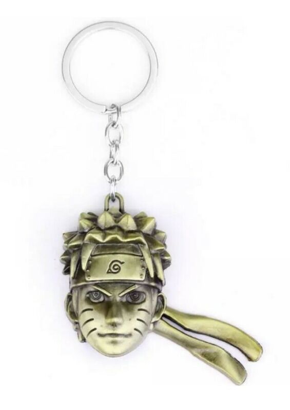 "Naruto Head Face Keychain Gold 2"" Anime US Seller"
