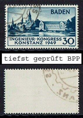 Französische Zone Baden Mi. Nr. 46 I tiefst geprüft gestempelt Jahrgang 1949 (80