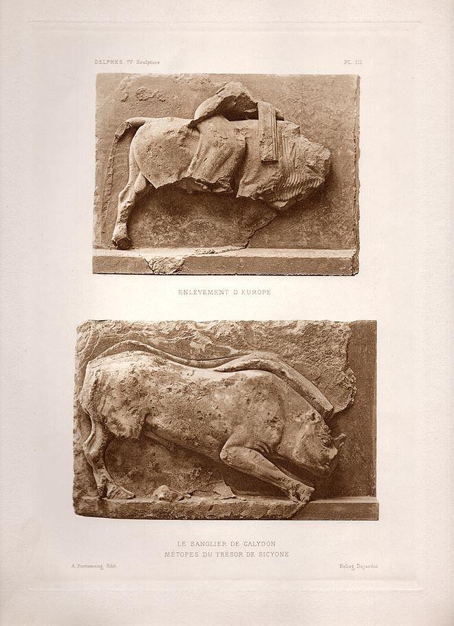 Vintage Heliogravure Photo Classical Greek Sculpture #1
