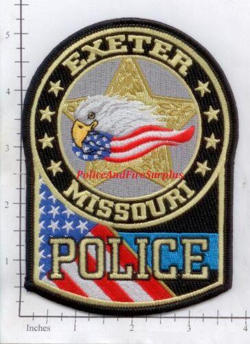 Missouri - Exeter MO Police Dept Patch - Eagle Flag
