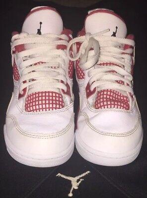 Nike Air Jordan 4 Retro Alternative 89 Size 12C Red And White 308499-106 (ST)
