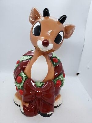 Enesco Rudolph The Red-Nosed Reindeer 2001 Cookie Jar Misfit Toys Christmas CUTE