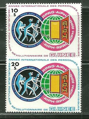 GUINEA 850-51 MNH INTERNATIONAL YEAR OF THE HANDICAPPED SCV 8.00