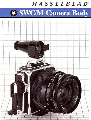 HASSELBLAD SWC/M CAMERA BROCHURE -from 1984-HASSELBLAD SWC M