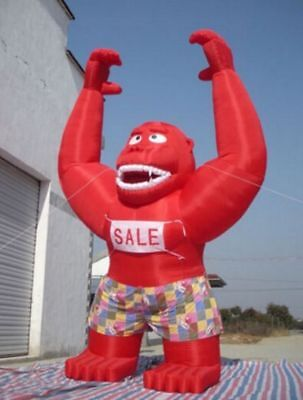 20Ft Inflatable RED Gorilla  Advertising Promotion With Blower NEW  - Inflatable Gorilla