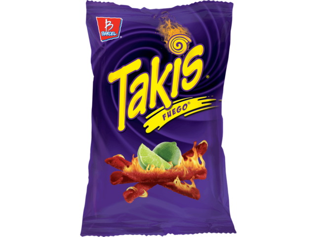 NEW BARCEL TAKIS FUEGO HOT CHILI PEPPER & LIME TORTILLA CHIPS 9.9 OZ BAG