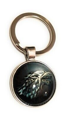 GAME OF THRONES Stark Wolf Key chain collectible cosplay - Gaming Keychains