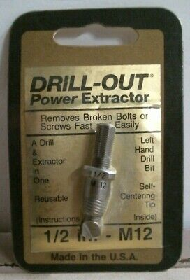 "Drill-Out Power Extractor 1/2"" M12 Screw Extractor FREE SHIPPING"