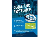 Touch rugby recruitment game