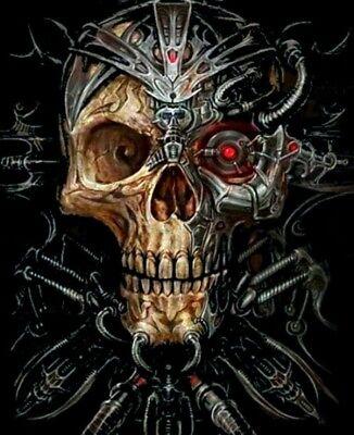 Steam Punk Skull  Mosaic Painting Kit 40 x 30 cm like cross (Steampunk Kit)