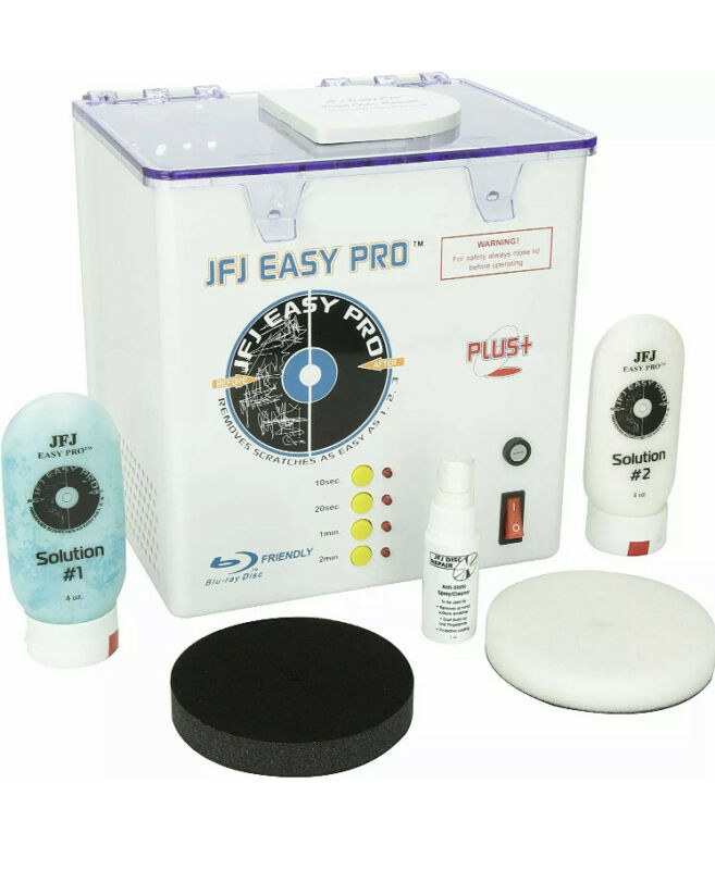 Brand New JFJ Easy Pro Disc Repair Machine CD, DVD, Video Games