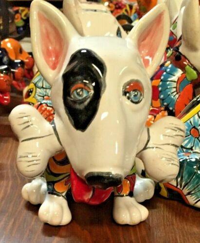 TALAVERA MEXICAN POTTERY - ANIMALS - Mini Terrier Dog w/Bone  **FREE FREIGHT**