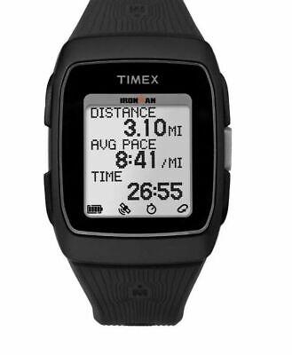 "Timex TW5M11700, ""Ironman"" GPS Training Black Resin Watch, Alarm, Indiglo"