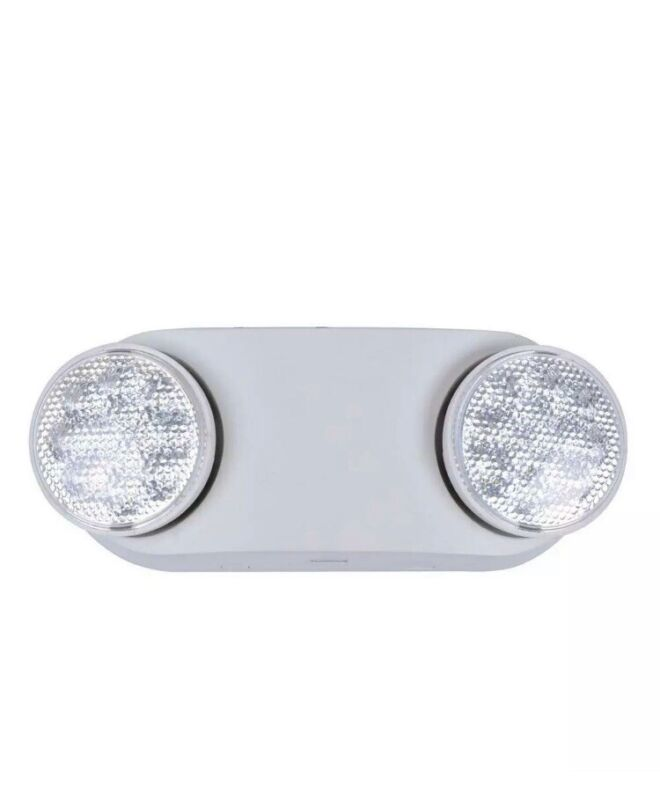 Commercial Electric Emergency Light Oval Safety LED 11 Watt NiCad Battery White