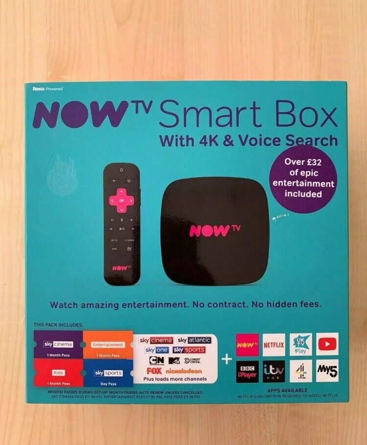 Brand new boxed sealed NOW TV Smart Box With 4K & Voice Search | in Little  Lever, Manchester | Gumtree