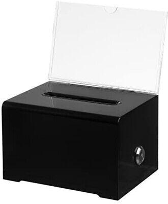 Acrylic Donation Ballot Box - Black