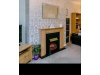 Next Oak Effect Electric Fire and Surround