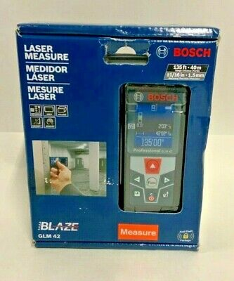 Bosch Glm 42 Laser Measure 135ft Range Brand New