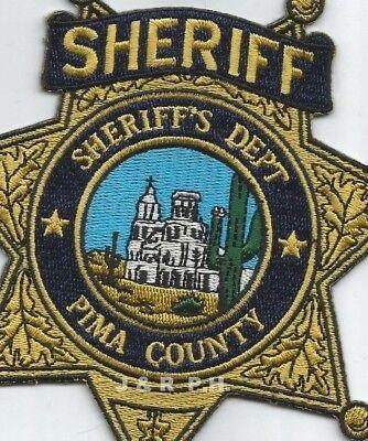 "Pima County  Sheriff, AZ (5"" X 5"" size)   shoulder police patch (fire)"