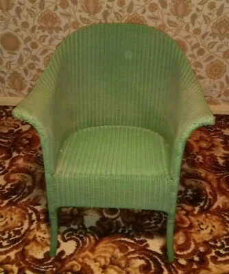 Lloyd Loom Lusty Vintage Armchair, Green Colour