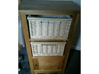 Brand new solid oak storage unit.