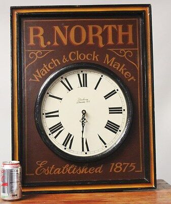 Vintage R. NORTH Watch & Clock Maker's Advertising Clock [PL2531]