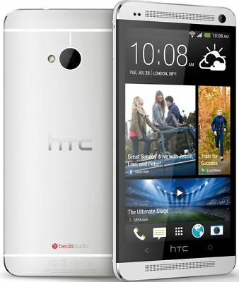 New HTC One M7 GSM Factory Unlocked 4G LTE 32GB Android Smartphone Phone Silver