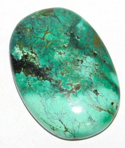 99 Cts Natural Tibetan Turquoise Oval Cabochon Loose Gemstone 1 Pieces 33649
