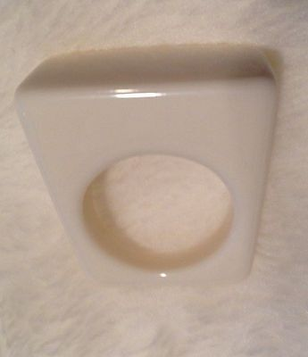 Lucite White Ring Size 5 1/2