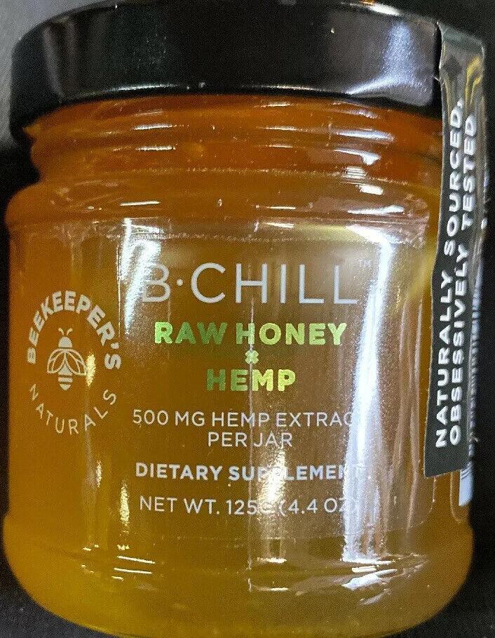 Beekeepers Natural Raw Honey And Hemp Be Chill 4.4oz Jar (7 Jars)