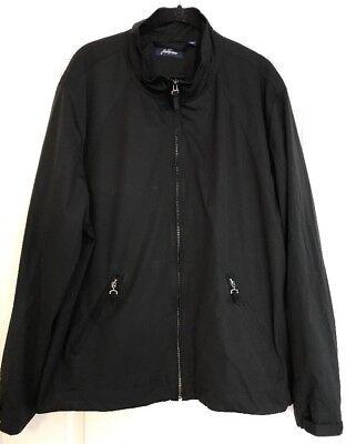 Jack Nicklaus Mens Golf Windbreaker Jacket Zip Front Black Size Large  New Front Zip Windbreaker Jacke