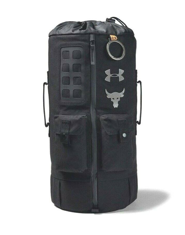 Under Armour UA x Project Rock 60 Bag Black Gym Duffle/Trave