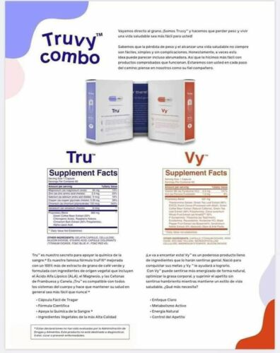 New TruvyCombo TruVision Health Truvy Weight Loss 1 Month (30 Day) Fast Shi 1
