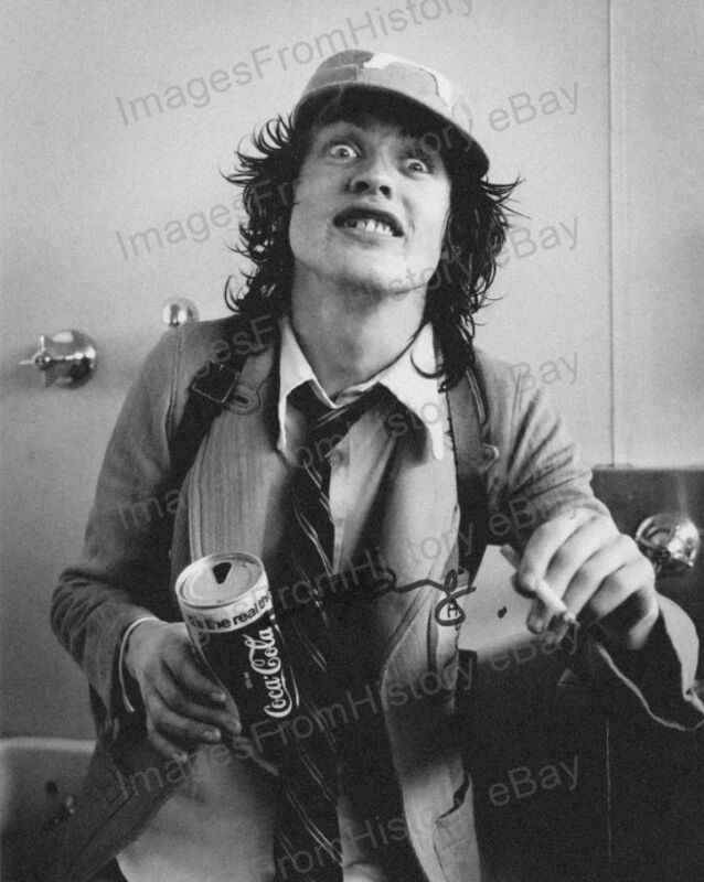 8x10 Print Angus Young ACDC 1970