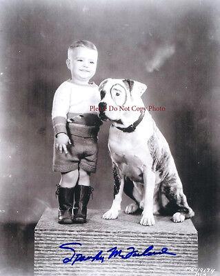 "George McFarland  ""Spanky"" Little Rascals Vintage autographed 8x10 RP photo"