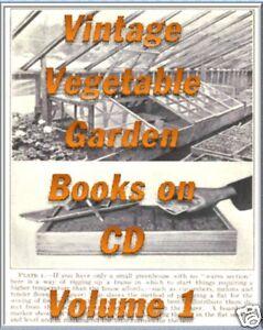 12 OLD BOOKS GARDENING CD GROWING VEGETABLES KITCHEN GARDEN BOOK COLLECTION