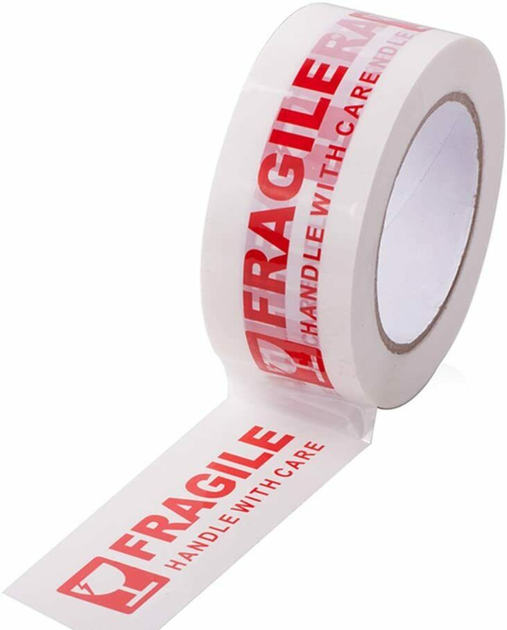 Fragile Tape-Handle with Care Packing Printing Tape-2 Inch x 330 Ft 110 Yards-6X Business & Industrial
