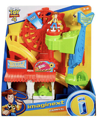 NEW Fisher-Price Imaginext Disney Pixar Toy Story 4 Carnival Playset WOODY DUCKY