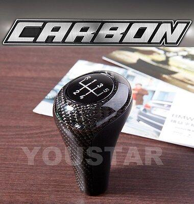 5 speed GENUINE CARBON Manual Gear Knob for BMW 3 5 Series E46 E36 E30 Z3 M3