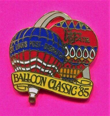 HOT AIR BALLOON PIN 1985 BALLOON CLASSIC RACE ST LOUIS DISPATCH BALLOON PIN