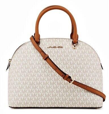Satchel Schultertasche Handtasche (Michael Kors tasche handtasche emmy lg dome satchel vanilla neu 35t9gy3s3b)