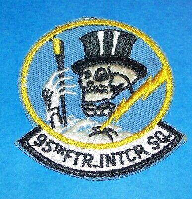 ORIGINAL CUT-EDGE TWILL USAF 95th FIGHTER INTERCEPTOR SQUADRON PATCH